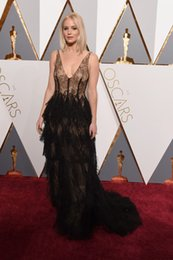 Wholesale Red Line Tires - Jennifer Lawrence Oscar Dresses 2016 88th Annual Academy Awards Red Carpet Celebrity Gowns Sheer Black Lace Tired Skirt with Boned Corset