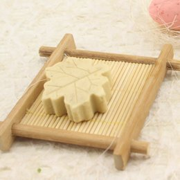 Wholesale Bathroom Shower Holder - 1113003 Natural Bamboo Wooden Soap Dish Wooden Soap Tray Holder Storage Soap Rack Plate Box Container for Bath Shower Bathroom