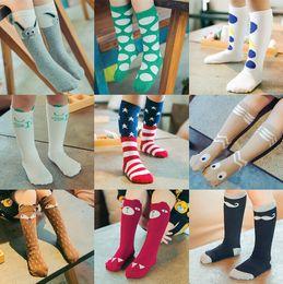 Wholesale Knee Socks For Baby Girls - New fashion hot sale latest fashion degins kids knee high baby girls socks 18 styles for choose free shipping