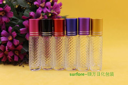 Wholesale Wholesale Mini Lotions - 2015 sales 8ml Glass Roll On Perfume Bottle Mini Lotion ContainerCosmetic Liquid Container Sample Test Bottle