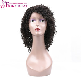 Wholesale Natural Kinky Wigs - Brazilian Curly Lace Front Human Hair Wigs For Black Women Brazilian Virgin Hair wigs Natural Black Human Hair Wigs Wholesale price