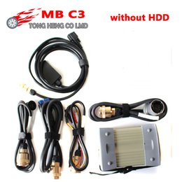 Wholesale Audi C3 - Quality A mb star c3 full set with all cables MB C3 star diagnosis tool MB Star C3 multiplexer without software hdd DHL Free