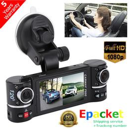 "Doble lente hd online-2.7 ""1080 P HD Car DVR CMOS Cámara Grabadora de Video Dash Cam G-Sensor GPS Dual Lens Envío Gratis"