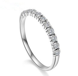 Wholesale Love Finger Rings - 2015 new arrival romantic forever love super shiny zircon & 925 sterling silver ladies`finger rings jewelry