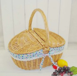 Wholesale Wicker Rattan Outdoor - Cover with rattan wicker basket small handmade toys & Crafts handbaskets baby outdoor picking basket