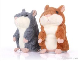 Wholesale Pet Talking Hamster - Talking Hamster Plush Toy Cute Speak Sound Record Hamster 15cm hamster pet talking record Mouse Plush Kids Toy 10Pcs