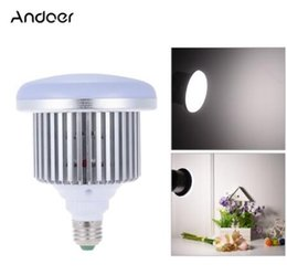 Wholesale Softbox Lamp - Andoer 50W 5500K 72 Beads E27 Socket Photo Video Studio Continuous Daylight Fill-in Softbox Photography LED Lamp Light Bulb for DSLR Camera