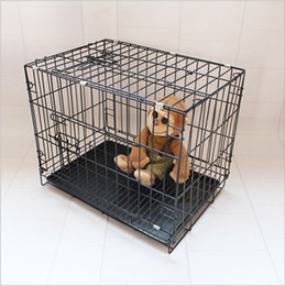 Wholesale Blue Dog Cage - Free shipping folding Dog cage Exquisite workmanship strong bearing strength wear-resisting anti-pressure blue pink black and purple co