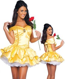 Wholesale Sexy Cosplay Fairy - Sexy Fancy Cinderella Snow White Princess Fairy Costumes for Women Halloween Costume Beauty and the Beast Cosplay