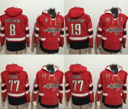 Wholesale Hoodie Xxl - 2017 Washington Capitals Hockey Hoodies 8 Alex Ovechkin 19 Nicklas Backstrom 77 T.J.Oshie Hoodie Jerseys Hooded Stiched Hoody
