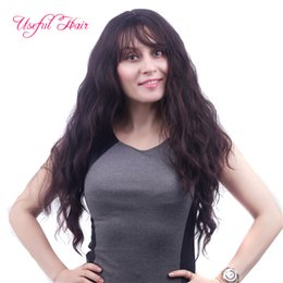 Wholesale Long Hair Wave Style - fashion 2018 new style Black ombre colors long wig body wave synthetic hair wigs for girls curly wigs marley hair christmas cap wigs
