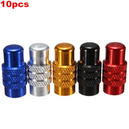 Wholesale French Valve - 10pcs 5 Colors Aluminium Presta Bike Bicycle MTB Valve Caps French Anodized Dust Cover order<$18no tracking