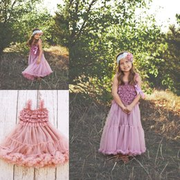 Wholesale Children Dance Images - Adorable Little Girls Dancing Dress Lace Tiered Long Toddler Pageant Dresses with Straps Ruffles Cheap Birthday Graduation Gown Children
