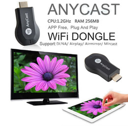 Wholesale Dlna Wifi Dongle - AnyCast M2 Airplay Wireless Wifi Display TV Dongle Receiver DLNA Easy Sharing Mini TV Stick HD 1080P for Android IOS WINDOWS NEW
