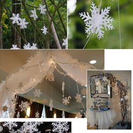 Wholesale Cheap Snowflake Ornaments - cheap Snowflake Paper Garland, Party Decorations, Christmas Decor garlands banner Free Shipping