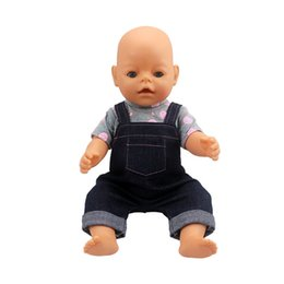 Wholesale 18 Baby Doll Clothes - 18 inches Reborn Baby Dolls Clothes Baby Born Doll Rompers Dress Clothing Kids Fashion Doll Accessories