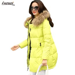 Wholesale Worsted Coat For Women - Wholesale- 1PC Winter Jacket Women Casacos De Inverno Feminino Thickening Cotton Hooded Parka For Women Winter Coat Chaquetas Mujer Z006