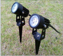 Wholesale Led Lamps Green Color - 3W 6W Garden Light LED Outdoor Lighting 12V 110V 220V Waterproof Spotlights Warm White Cold White Red Yellow Blue Green Lamp Color CE ROSH