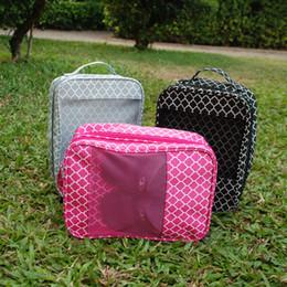 Wholesale Wholesale Tote Bag Luggage - Quatrefoil Multipurpose Storage Bag Carry on Luggage Tote Overnight Travel Bag Fabric Organizer Beach Bag DOM106242