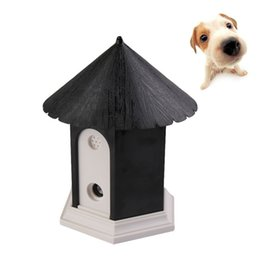 Wholesale Arrival Train - Wholesale-New Arrival Black Puppy Outdoor Ultrasonic Anti Barking Control Birdhouse Bark Stop Sonic Pet Products Dog Supplies Trainings