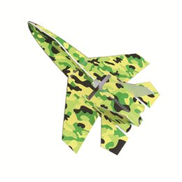 Wholesale Electric Airplane Kit - Brand new su 27 model rc airplanes part camouflage shatter resistant kt foam board led jet planes body kits dropshipping