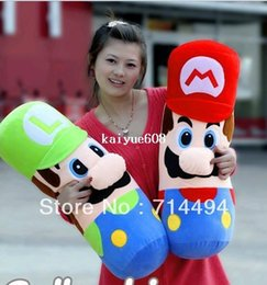 Wholesale Marie Fashion - 50cm Super Marie plush toy doll Mario pillow doll creative birthday gift free shipping