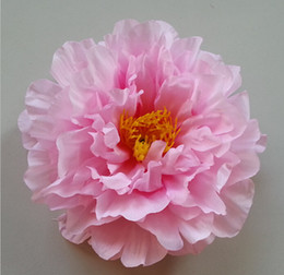 Wholesale Artificial Flowers Pink Peony - 17cm big Peony flowers head artificial silk flowers 9 colors FZH019