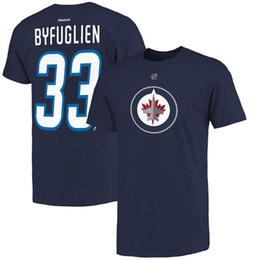 Wholesale Printed Numbers - 17-18 new season NHL Winnipeg Jets 29 Patrik Laine Name & Number T-Shirt