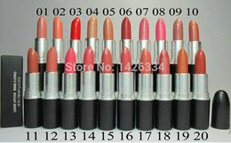 Wholesale Wholesale Brand Name Lipsticks - Free Shipping! New brand lustre Lipstick rouge a levres 20 Colors Makeup Lipstick With English Name 3G. (12pcs lot)