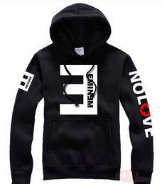 Wholesale Sweatshirt Eminem - Winter Men's Fleece Hoodies Eminem Printed Thicken Pullover Sweatshirt Men Sportswear Fashion Clothing