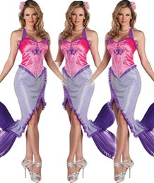Wholesale Caribbean Party Games - The New Sexy Caribbean Mermaid Cosplay take the Princess Costume Party Outfit Game Clothes 2015 2016 Including Head Flower