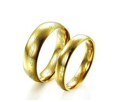 Wholesale Lord Rings Jewellery - Lord of the Rings Gold Silver Hobbit Ring Mens Jewellery Size 6-10