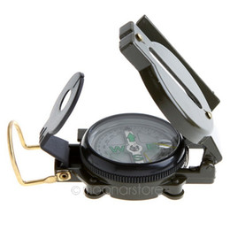 Wholesale Camping Watches Compass - Mini Military Lensatic Watch Pocket Compass Magnifier Army Green For Camping Hunting Marching, Free Shipping Wholesale HM351