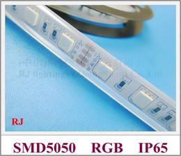 Canada bande LED souple RONGJIAN (RJ) bande LED RGB bande lumineuse SMD 5050 bande DC12V SMD5050 étanche pour les pays américains et asiatiques Offre