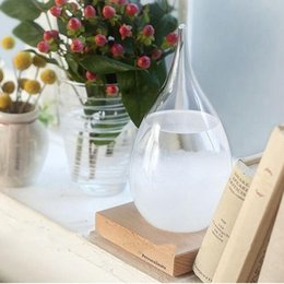 Wholesale Craft Bottles Wholesale - Storm Glass Weather Forecast Bottle Desktop Drops Weather Glass Crystal Tempo Water Drop Globes Creative Storm Glass Craft Arts Gifts B3619