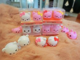 Wholesale Colorful Contact Cases - Colorful Animal Contact Lens Case Animal Lenses Box Color Cute Contact In-lens case Cartoon Glasses box Wholesale