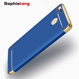 Wholesale xiaomi red mi - Phone Cases for Xiaomi Mi A1 5X MIX 2 Cover 3 in 1 Hard PC Shell for Xiaomi Redmi 4X 3X 3S Cases