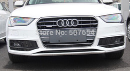 Wholesale Audi A4 Trim - Free shipping!High quality ABS with Chrome 12pcs Front grill decoration bright trim for Audi A4L 2013-2015
