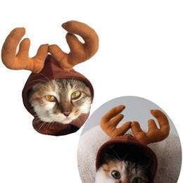 Wholesale Dog Gentleman - 1pcs Headbands Dog Antlers Cap Pet Supplies Hat Deer Hats Teddy Dog Antlers Gentleman Caps Christmas Hat Pet Costume