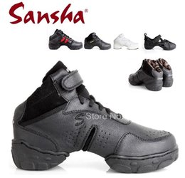 Wholesale Dance Shoes Jazz Sansha - Sansha original women and men ballroom salsa jazz dance shoes Genuine leather Top quality with breathable dance sneakers