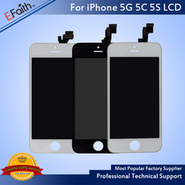 Wholesale Apple 5s - Grade A +++LCD Display Touch Screen Digitizer Full Assembly for iPhone 5S 5C Replacement Repair Parts & Free Shipping