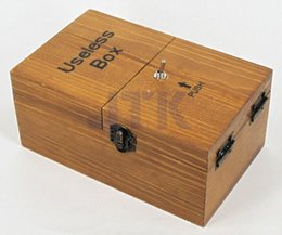 Wholesale Wood Turned Boxes - Turns Itself Off Useless Box Leave Me Alone Machine Fully Assembled in Real Wood