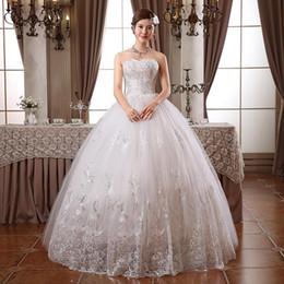 Nuovo abito da ballo in pizzo ricamato in pizzo a vita alta da pavimento lunghezza abito da sposa 2015 che borda abiti da sposa da