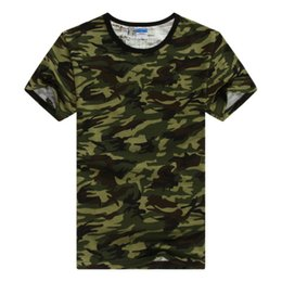 Wholesale Hunting Tee Shirt Xl - Wholesale-Summer Outdoors Hunting Camouflage T-shirt Men Breathable Army Tactical Combat T Shirt Military Dry Sport Camo Outdoor Camp Tees