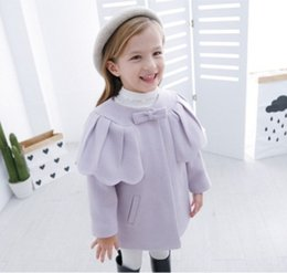 Wholesale Kids Purple Trench Coat - Girls clothes Trench Coats Jackets For Clothing Tops Kids children's Windbreakers Spring jacket Autumn Outerwear wool dress coat