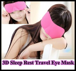 Wholesale Blue Rest - 3D Sleep Rest Travel Eye Mask Sponge Cover Blindfold Shade Eyeshade three color blue rose black