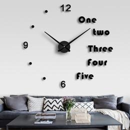 2019 tuiles de son DIY Ménage Silencieux Grand EVA Horloge Murale 3D Autocollants De Mode Grande Taille Miroir Autocollant Mural Horloges Salon Décoration