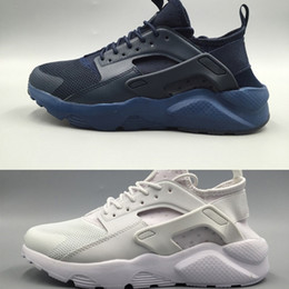 Wholesale snow boots for women cheap - 2017 Huarache 4 IV Running Shoes For Men & Women,Cheap Green Red Mens Triple Huaraches Sports Shoes Huraches 5 Trainers Sneakers 36-45
