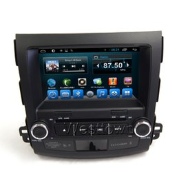 Wholesale Mitsubishi Outlander Gps Navigation - Android 4.4 2 din car dvd gps navigation system built in bluetooth radio audio stereo fit for Mitsubishi Outlander 2012