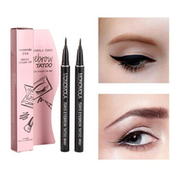 Wholesale tattoo products wholesale - Professional Women Makeup Product Waterproof Brown 7 Days Eye Brow Eyebrow Tattoo Pen Liner Long Lasting Makeup